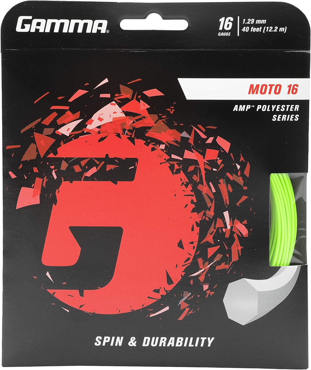 Max 60% OFF Gamma Sports AMP Reservation MOTO Tennis Racket String Hep Polyester Series-