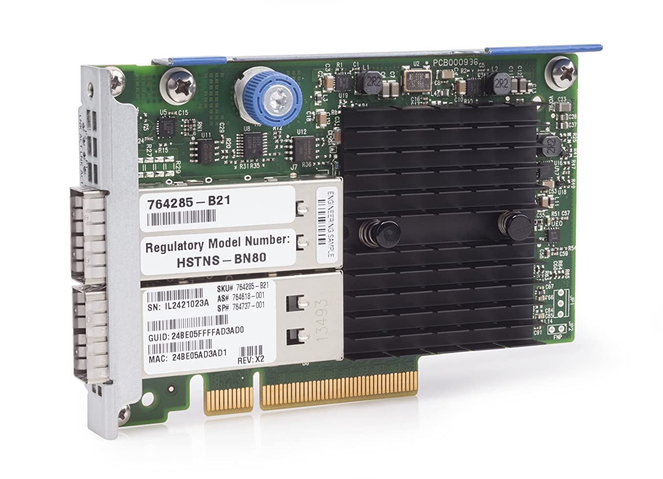 中性崩壊内なるHewlett Packard Enterprise InfiniBand FDR/Ethernet 10Gb/40Gb 2-port 544+FLR-QSFP Adapter