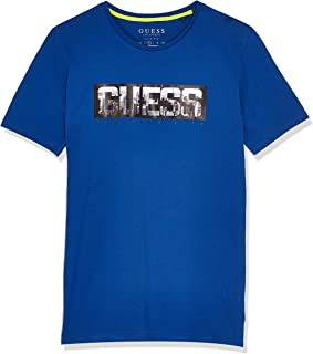 GUESS Men's Crew Neck Small Sleeve Nyc T-Shirt