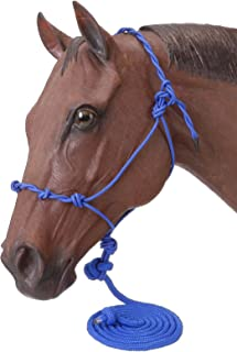 Tough 1 Poly Rope Halter W/Knots & 14Ft Lead