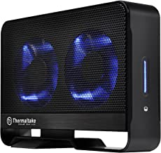 Thermaltake Max 5G Active Cooling Hard Drive Enclosure with Two 80mm Blue LED Fans USB 3.0 5.0Gbps ST0020U