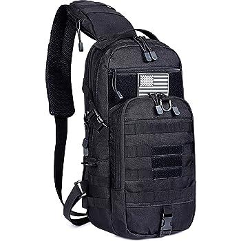 G4Free EDC Bag Tactical Sling Bag Backpack Fishing Tackle Molle Chest Shoulder Assault Pack Rectangular Outdoor Daypack