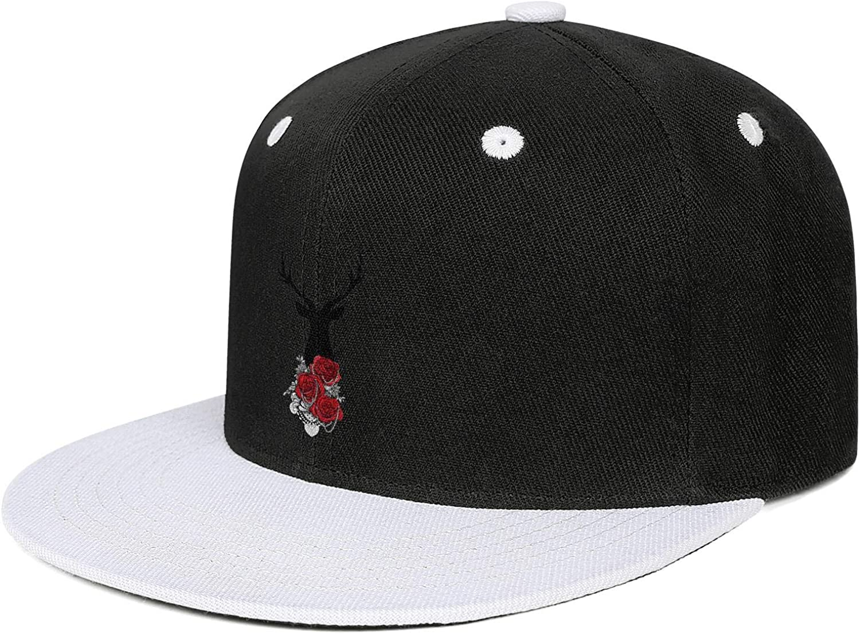 Good Vibes Deer Men Cool HatPrinted Portable Work Hat