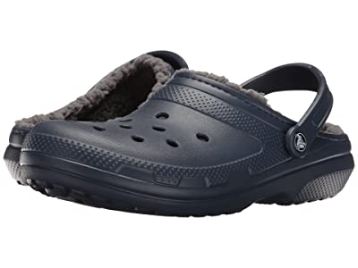 Crocs Classic Lined Clog (Navy/Charcoal) Clog Shoes