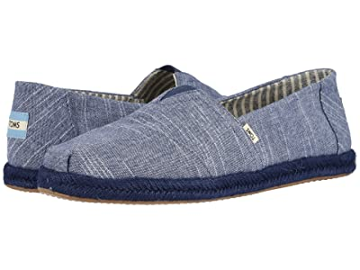 TOMS Alpargata (Navy Rugged Chambray on Mono Rope) Men