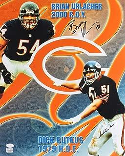 Bears Dick Butkus & Brian Urlacher Authentic Signed 16x20 Photo JSA #G16452