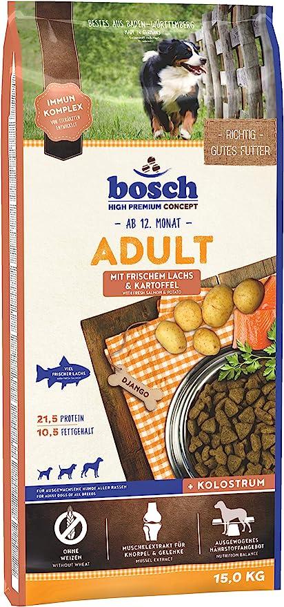 bosch HPC Adult   con Salmón fresco y Patata   Comida seca para perros adultos de todas las razas   15 kg