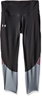 Under Armour Women's Armour Fly Fast Crop TIGHTS, Grey (Jet Gray/purple Prime/reflective), Large