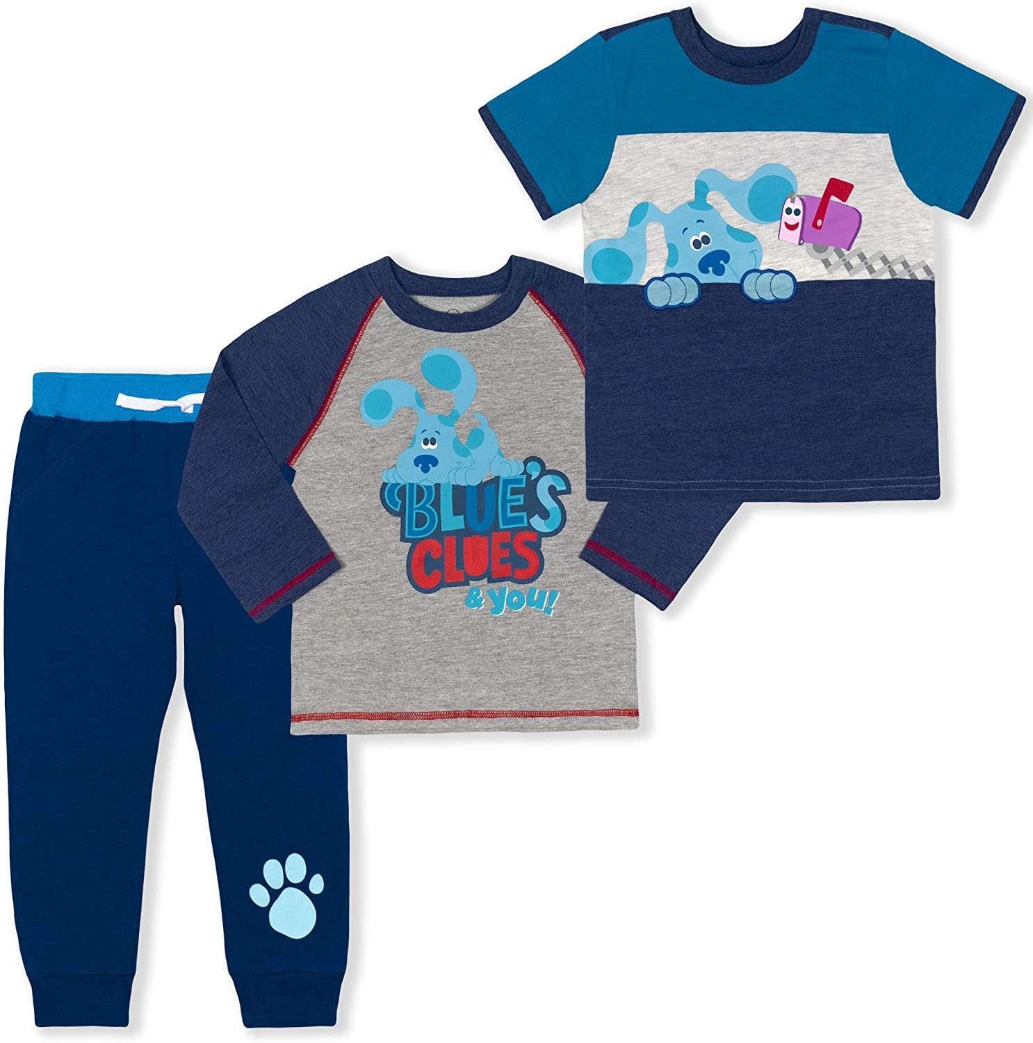 Nickelodeon Boy's 3-Piece Blue's Clues and You Shirts and Jogger...