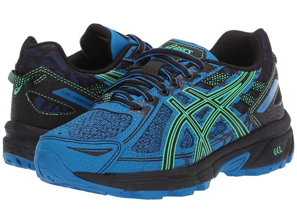 ASICS Kids GEL-Venture 6 GS (Little Kid/Big Kid) (Blue/New Leaf) Boys Shoes
