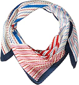 Stripes On Stripes Pleated Diamond Shape Scarf