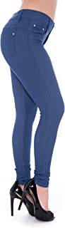High Waisted Plus Size Tall Skinny Colored Jeggings with Pockets for Women
