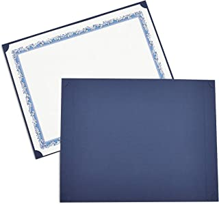 Best Paper Greetings 24-Pack Certificate Holder - Diploma Holder, Single Sided Holder for Letter-Sized Award Certificates and Documents Display, navy, 11.2 x 8.8 Inches