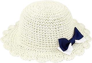 Bebé Niñas Sombrero para el Sol Sombrero de Paja Plegable Gorro Protección UV Primavera Verano Vacaciones Sombrero de Play...