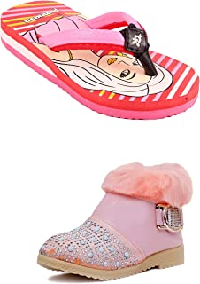 Rgk's Combo FPC Long Shoes Booties for Baby Girls of 3 Years | 4 Years | 5 Years | 6 Years | 7 Years | 8 Years | 9 Years