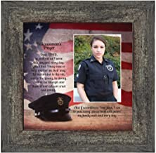 Policewoman's Prayer, Personalized Gifts for Women Police Women, Gifts for Cops, 10X10 6359BW