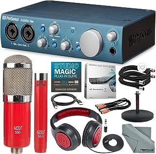 PreSonus AudioBox iTwo USB 2.0 & iPad MIDI/Audio Recording Interface and MXL 550/551 Microphone Ensemble Kit + Delxue Bundle