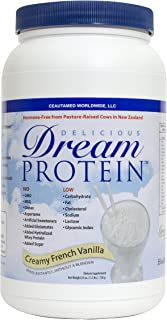Dream Protein Whey Protein Powder, Creamy French Vanilla, 720 Gram