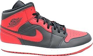 Jordan 1 Mid Sneakers Black/Gym Red (EU