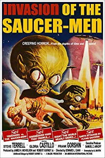 American Gift Services - Vintage Science Fiction Horror Movie Poster Invasion of The Saucer-Men - 24x36