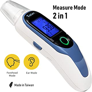 Tekcare Infrared Ear and Forehead Thermometer, FDA Approved, Fever Indicator, Ergonomic Design to Fit Infant/Baby/Kids/Adults/Object Use