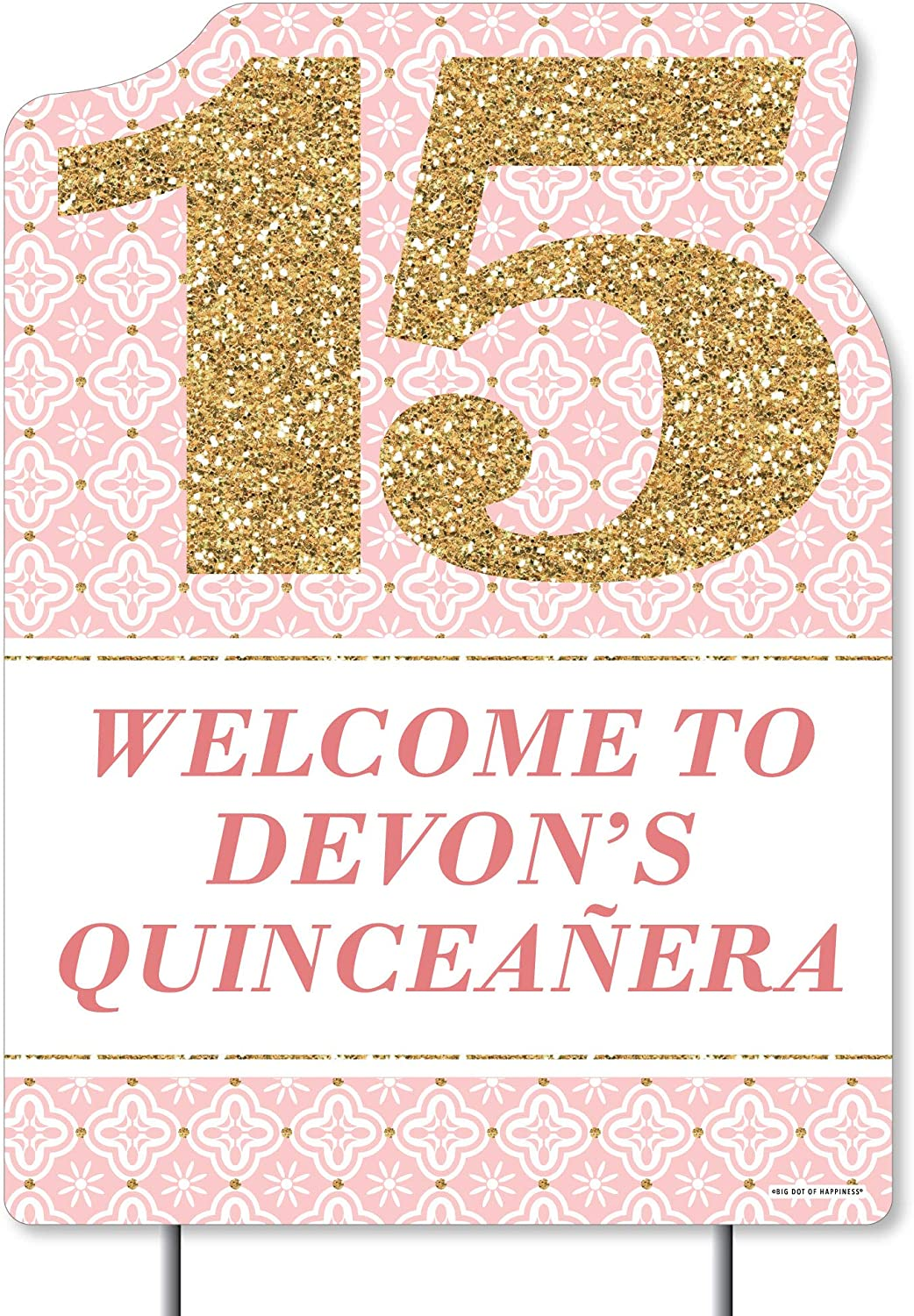 Big Dot of Happiness Personalized Mis Party Max 79% OFF Decora Quince Anos Super Special SALE held -