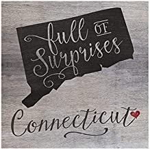 """Kindred Hearts 12""""x13.5"""" Connecticut State Slogan Pallet Board Wall Art"""