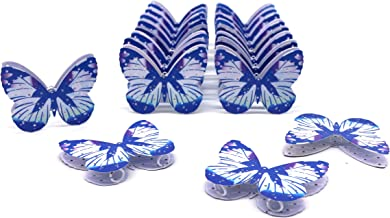 CVHOMEDECO. Unique Blue Metal Butterfly Design Decorations Hanging Decorative Butterflies Accessories for Home Bedroom Wed...
