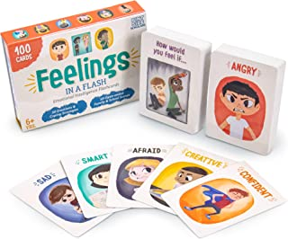 Brybelly Feelings in a Flash - Emotional Intelligence Flashcard Game - Toddlers & Special Needs Children - Teaching Empath...