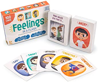 Brybelly Feelings in a Flash - Emotional Intelligence Flashcard Game - Toddlers & Special Needs Children - Teaching E...