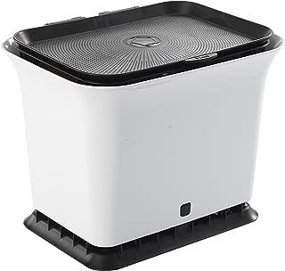 Full Circle Fresh Air Odor-Free Kitchen Compost Bin, Black and White