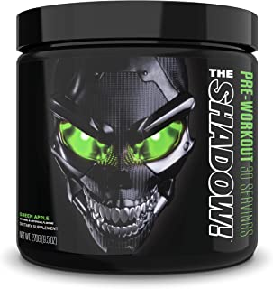 JNX Sports The Shadow! Hard Core Preworkout, A Better Pre Workout Stimulant - Electric Energy, Hypnotic Mental Focus, Supe...