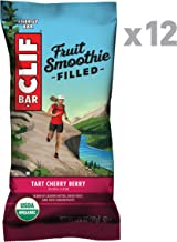 CLIF Fruit Smoothie Filled - Organic Energy Bars - Tart Cherry Berry - (1.76 Ounce Protein Snack Bars, 12 Count)