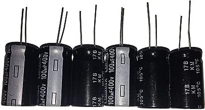 100uF 400V 18X30 +/-20% +105℃ 6 PCS Aluminum Electrolytic Capacitors
