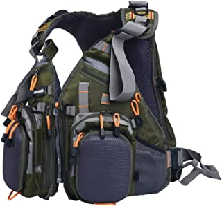 Amarine-made Fly Fishing Backpack Adjustable Size Mesh Fishing Vest Pack, Fly Fishing Vest and Backpack Combo