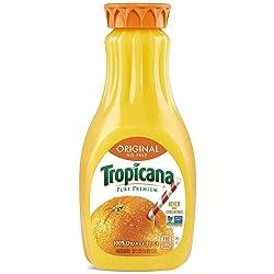 Tropicana Orange Juice, No Pulp, 52 Fl Oz