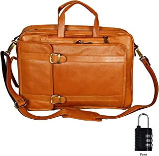 2b49d37968 HYATT Leather Accessories 4 Use 15.6 Inch Laptop Leather Backpack Bag for  Men and Women