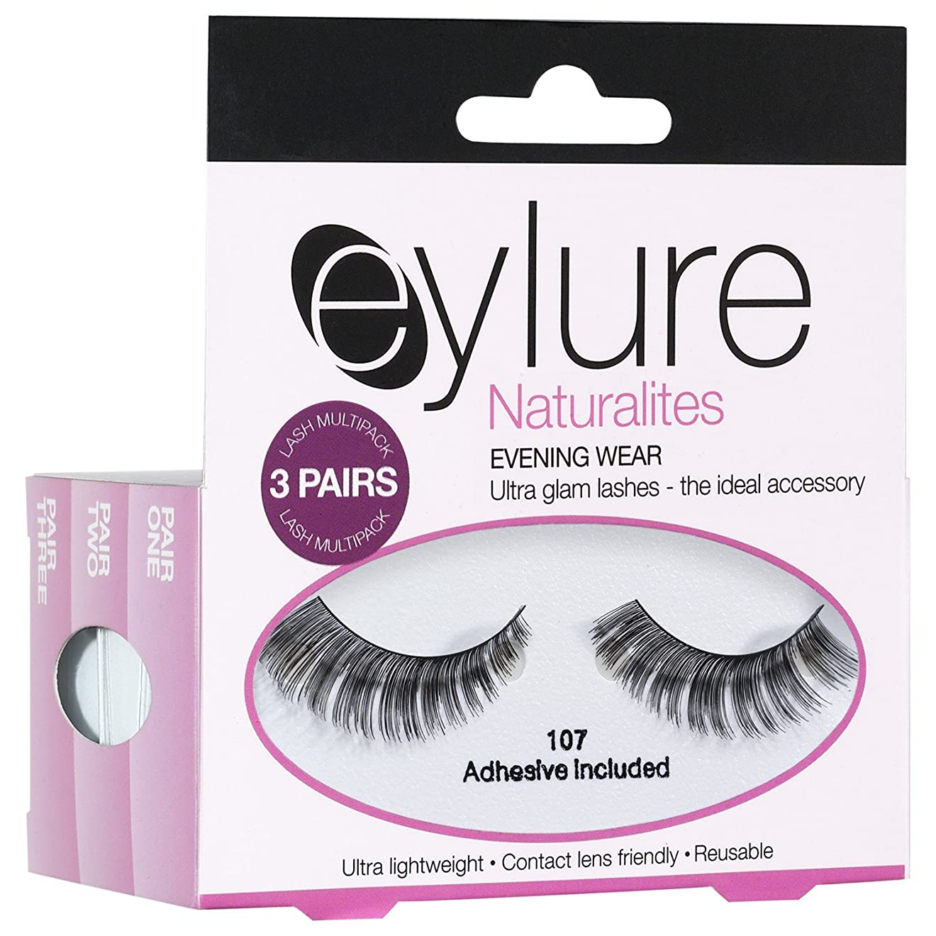 ゆでる保持協力Eylure Naturalites夕方偽まつげ (Elegant Touch) (x2) - Eylure Naturalites Evening False Eye Lashes (Pack of 2) [並行輸入品]