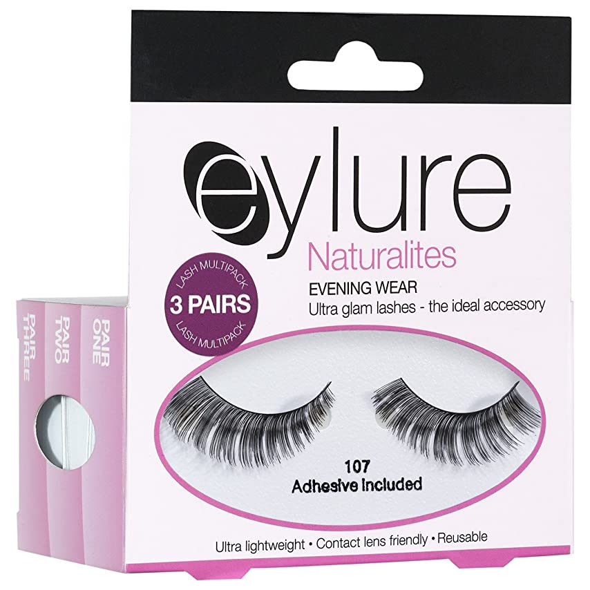 絶え間ない集団的脚Eylure Naturalites夕方偽まつげ (Elegant Touch) (x2) - Eylure Naturalites Evening False Eye Lashes (Pack of 2) [並行輸入品]