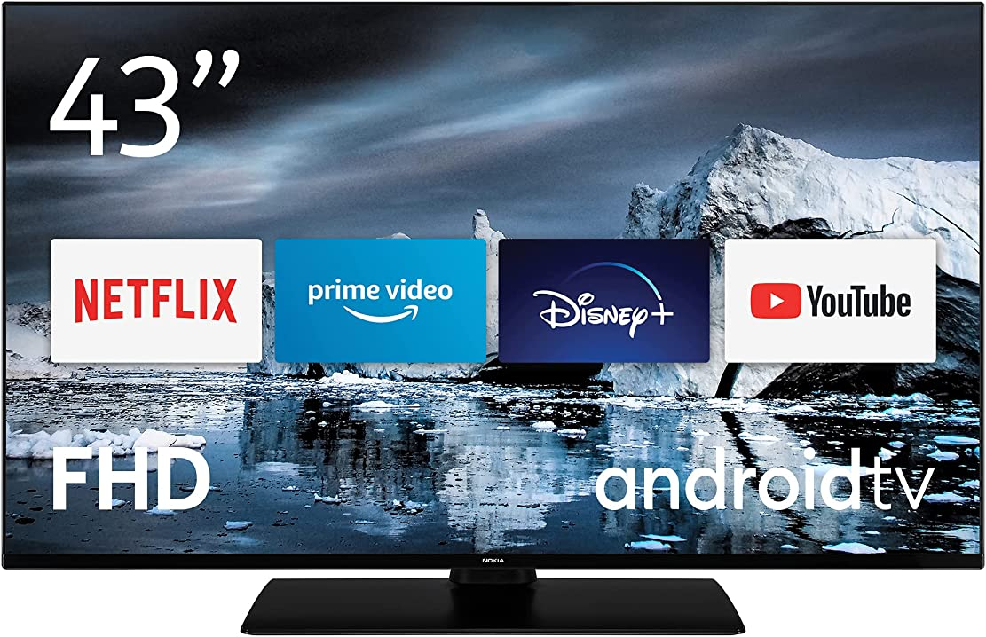 Smart tv 43 pollici nokia 4300b tv led (full hd av stereo contrasto dinamico assistente vocale android tv B08ZCTD6BW