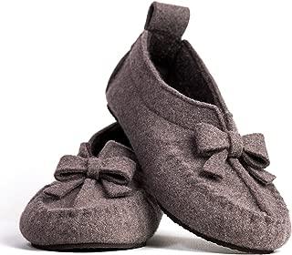 BELITI Wool Felt Warm Flat Moccasin Slippers
