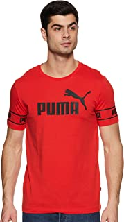 Puma Men'S Amplified Big Logo Tee, Peacoat