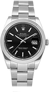 Datejust Mechanical (Automatic) Black Dial Mens Watch 126300 (Certified Pre-Owned)