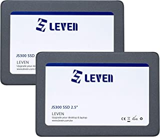 "LEVEN SSD (120GBx2) 3D NAND TLC SATA III Internal Solid State Drive - 6 Gb/s, 2.5 inch /7mm (0.28"") - up to 550MB/s - Comp..."