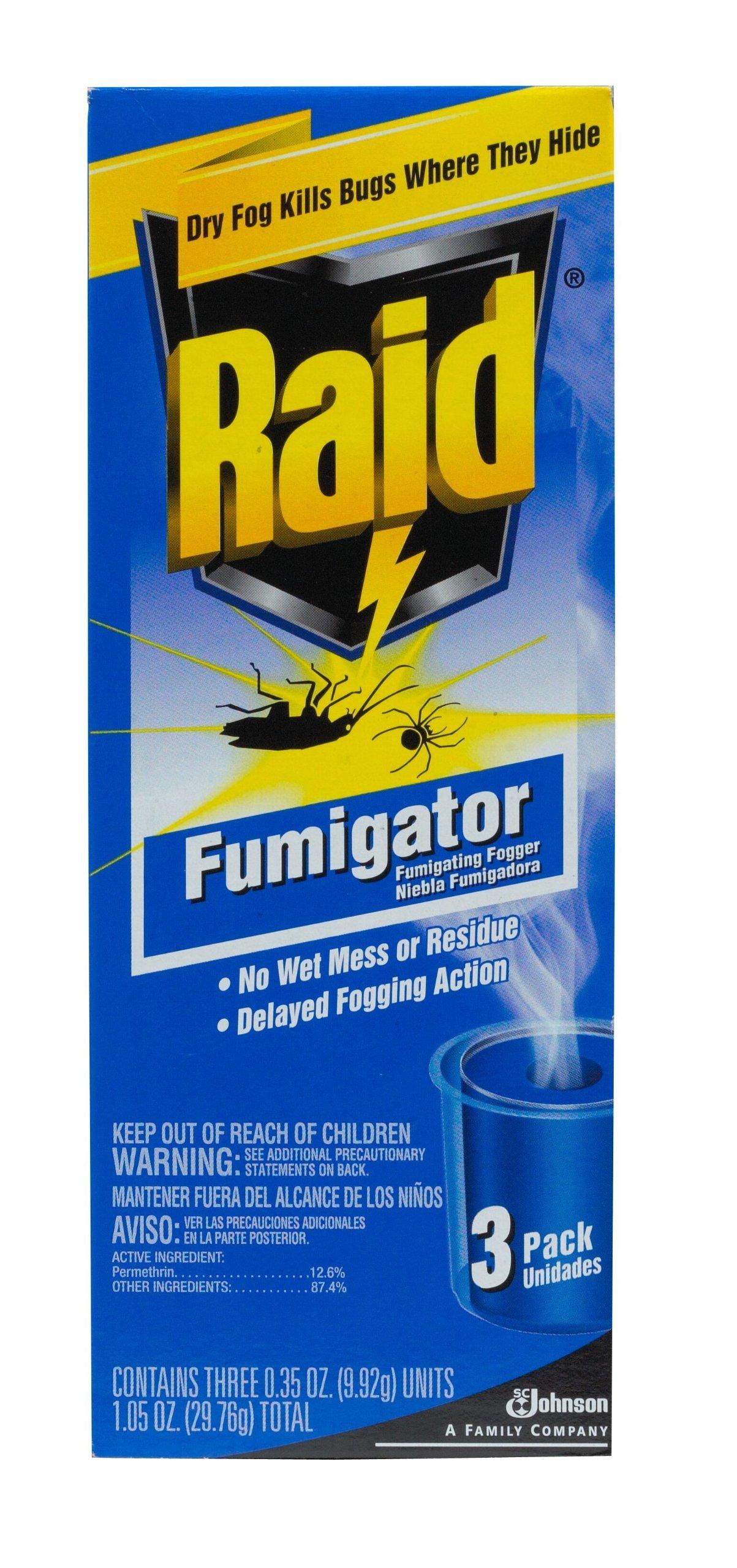Raid Fumigator Triple Pack 35 Ounce Total