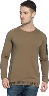 Alan Jones Printed Men's Round Neck Full Sleeve Cotton T-Shirt
