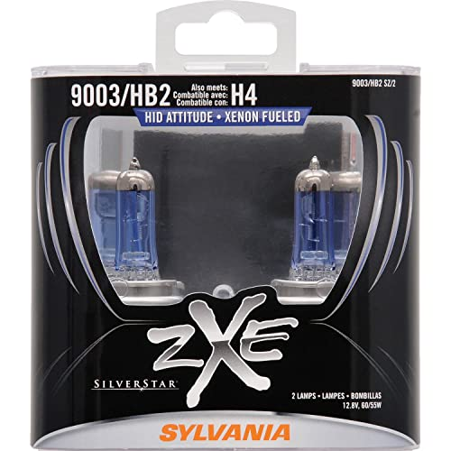SYLVANIA - 9003 (HB2, H4) SilverStar zXe High Performance Halogen Headlight Bulb -