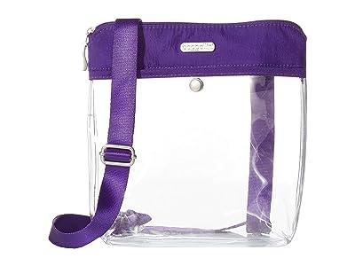 Baggallini Legacy Stadium Bags Clear Pocket Crossbody (Royal Purple) Cross Body Handbags