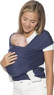 Ergobaby 婴儿背带适合新生儿至11公斤的宝宝,婴儿背带采用弹性面料制成,* 粘胶纤维,男女皆宜 靛蓝色