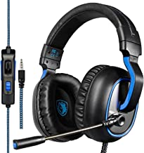 SADES R4 Gaming Headset 3.5mm Over-Ear Headphone with Microphone Volume Control for PC PS4 Xbox one Laptop